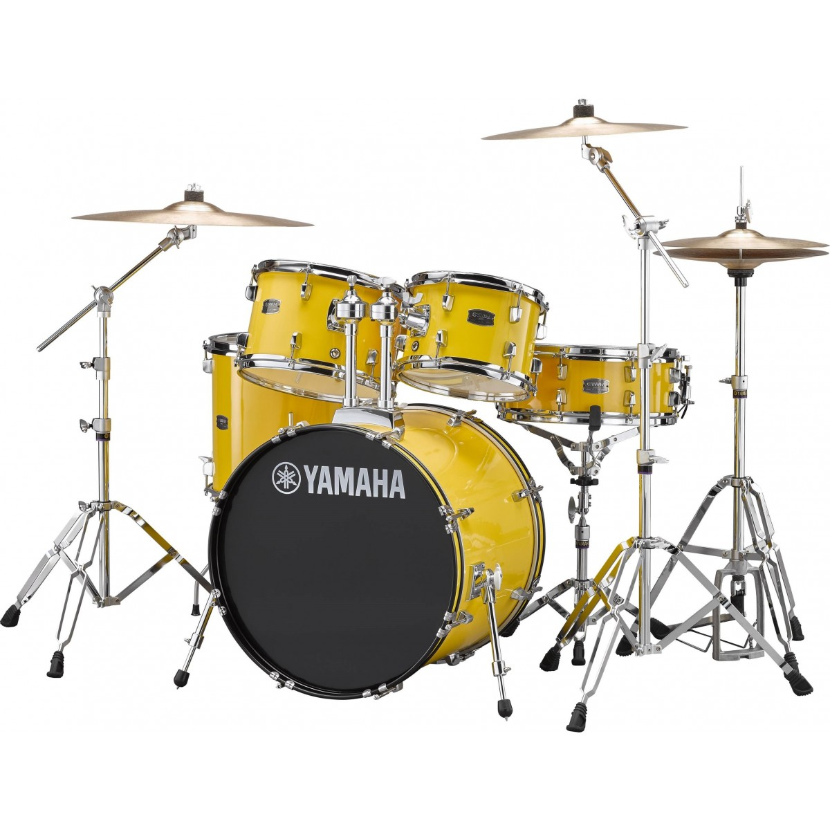 yamaha rydeen 5 piece fusion drum kit with hardware cymbals mellow yellow. Black Bedroom Furniture Sets. Home Design Ideas
