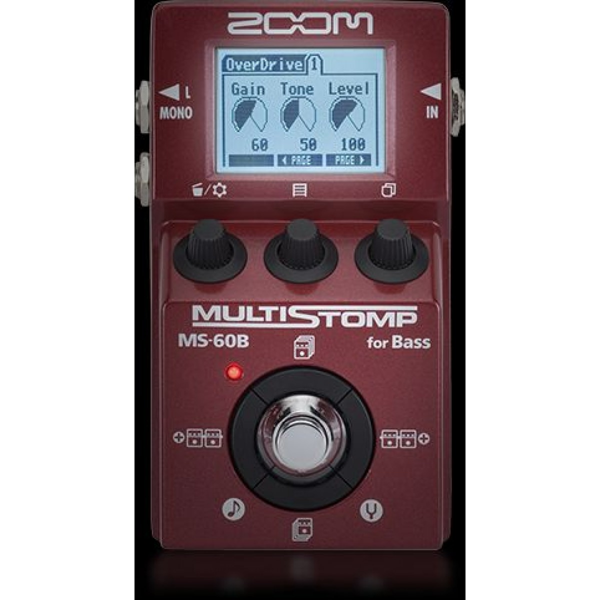 zoom ms 60b multistomp bass guitar multi effects pedal. Black Bedroom Furniture Sets. Home Design Ideas