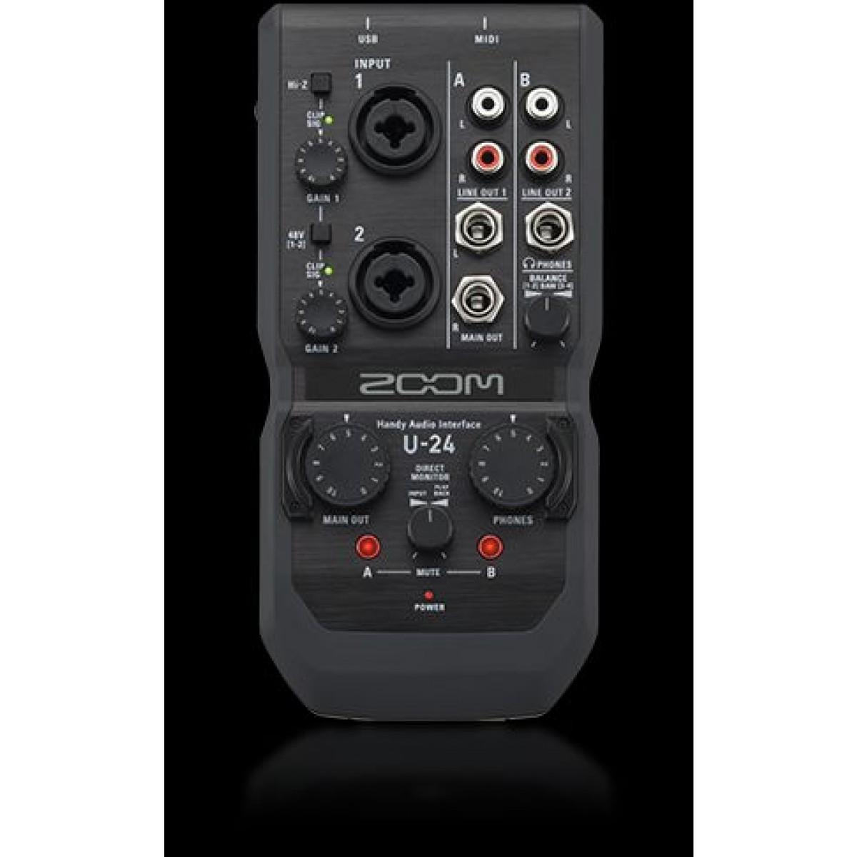 zoom u 24 portable handy audio interface. Black Bedroom Furniture Sets. Home Design Ideas