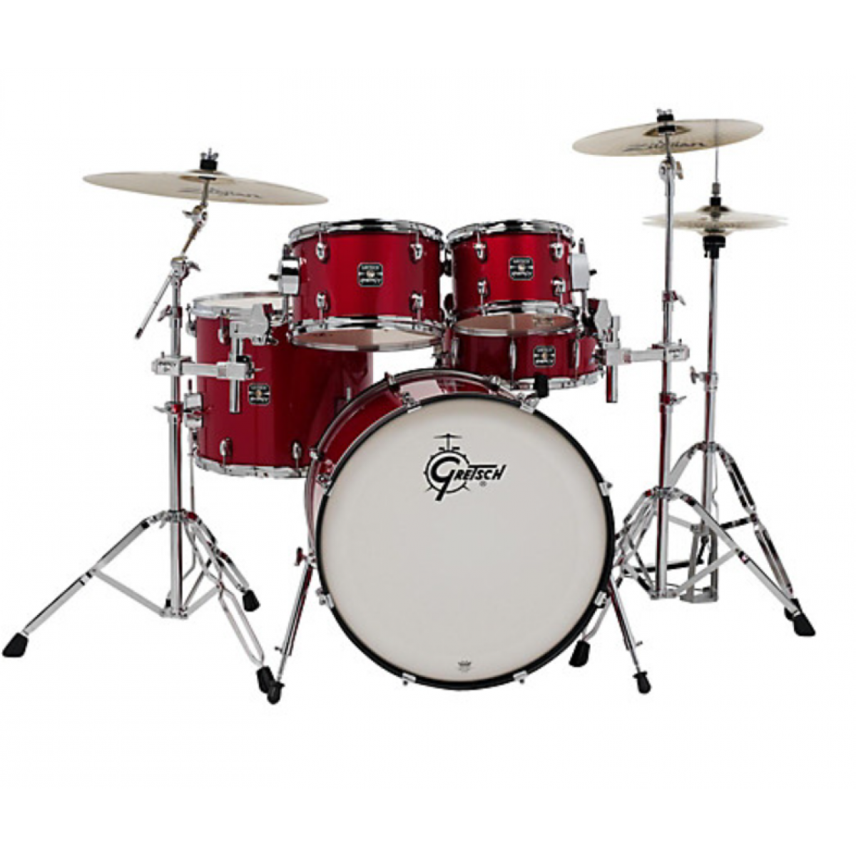 gretsch ge4e825r energy series rock 5 pce drum kit with hardware red sparkle. Black Bedroom Furniture Sets. Home Design Ideas