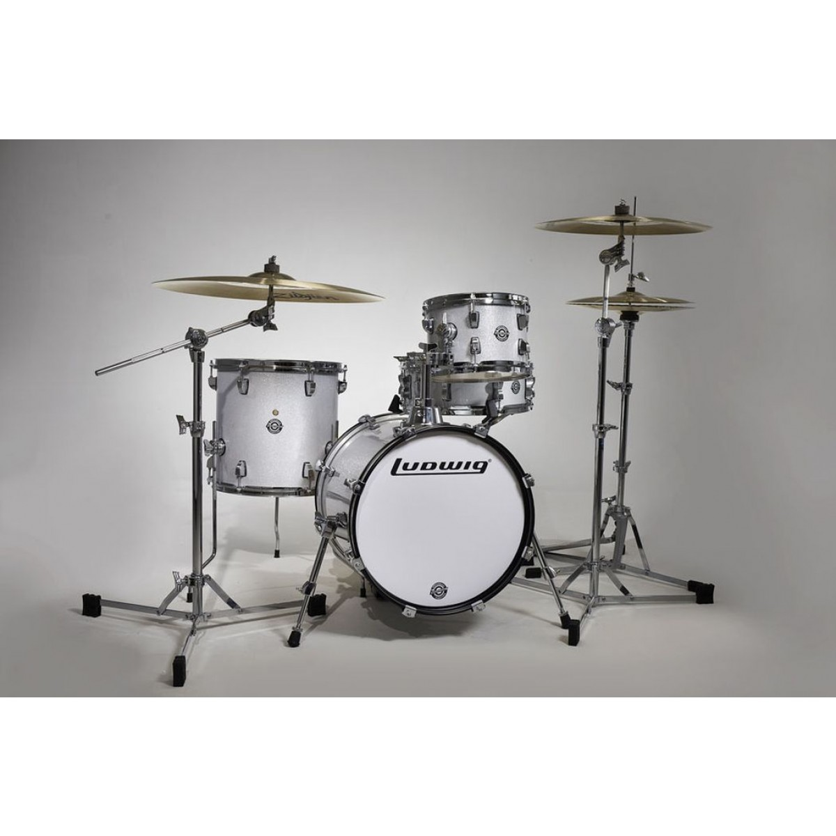 ludwig breakbeats questlove 4 piece drum shell kit white sparkle. Black Bedroom Furniture Sets. Home Design Ideas