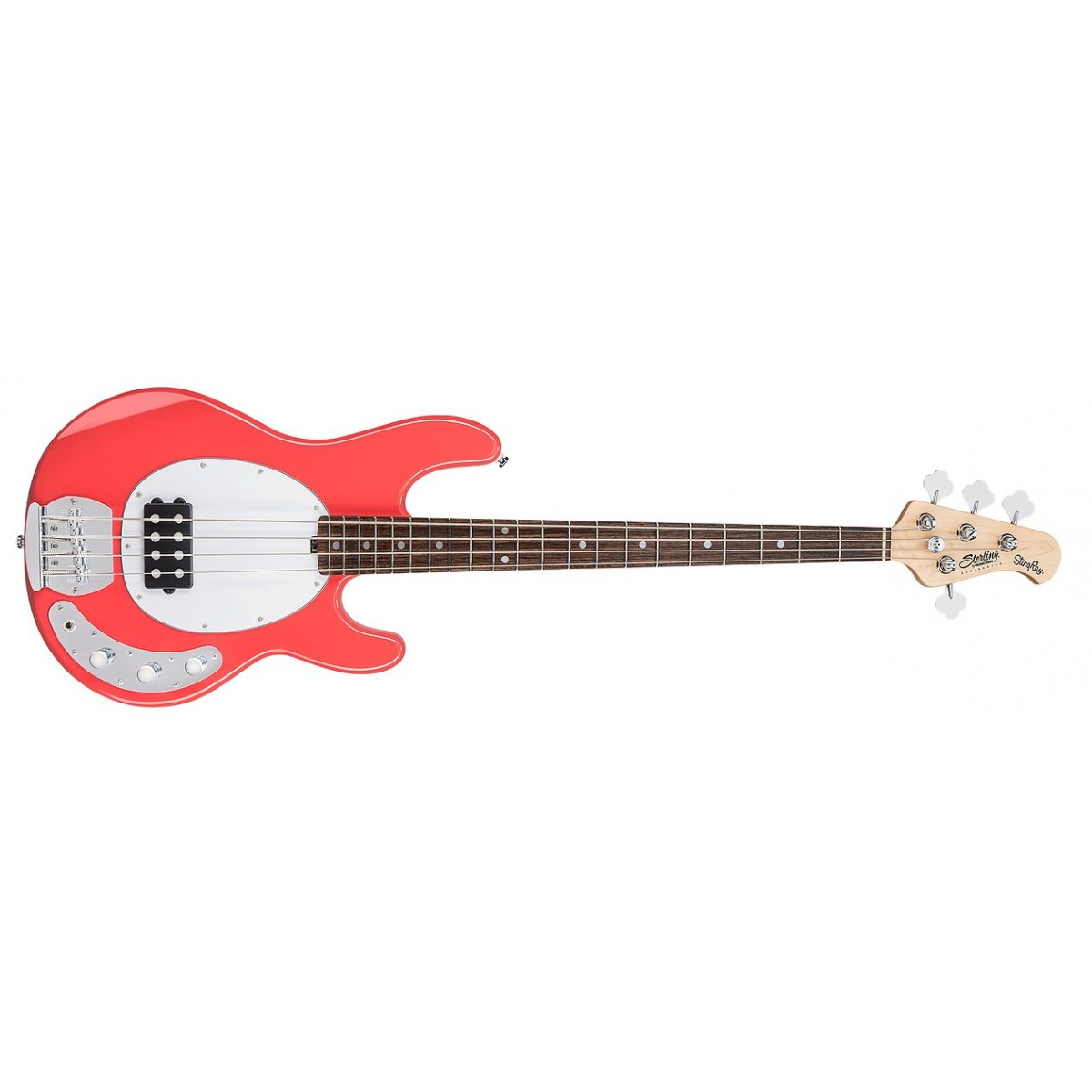 sterling by music man ray4 stingray bass fiesta red. Black Bedroom Furniture Sets. Home Design Ideas