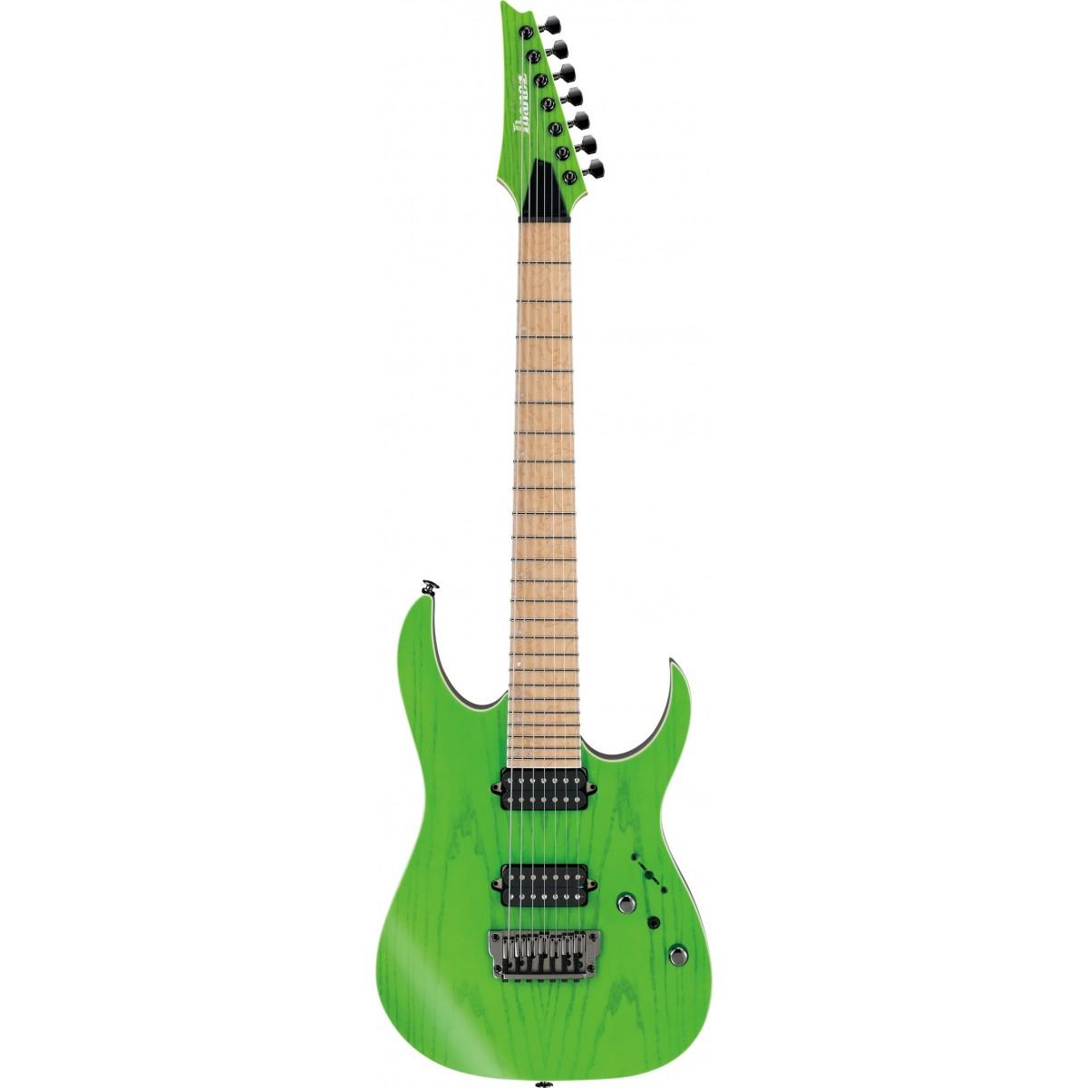 ibanez rgr5227mfx tfg 7 string prestige electric guitar with case transparent fluorescent green 2019. Black Bedroom Furniture Sets. Home Design Ideas