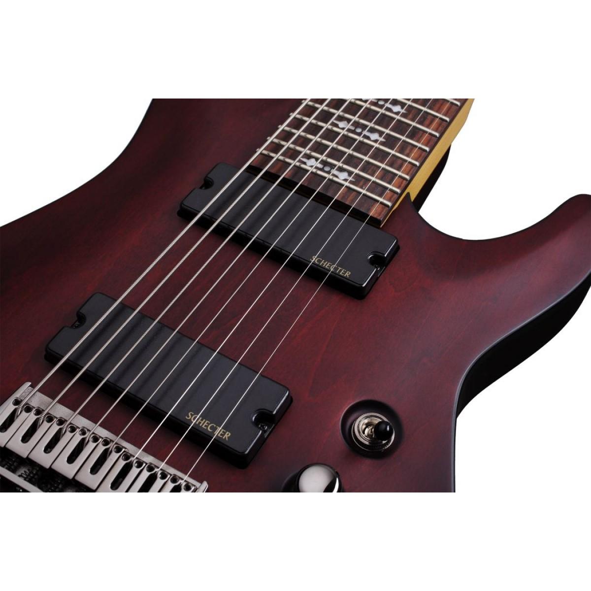 schecter sch2074 omen 8 walnut satin 8 string electric guitar. Black Bedroom Furniture Sets. Home Design Ideas