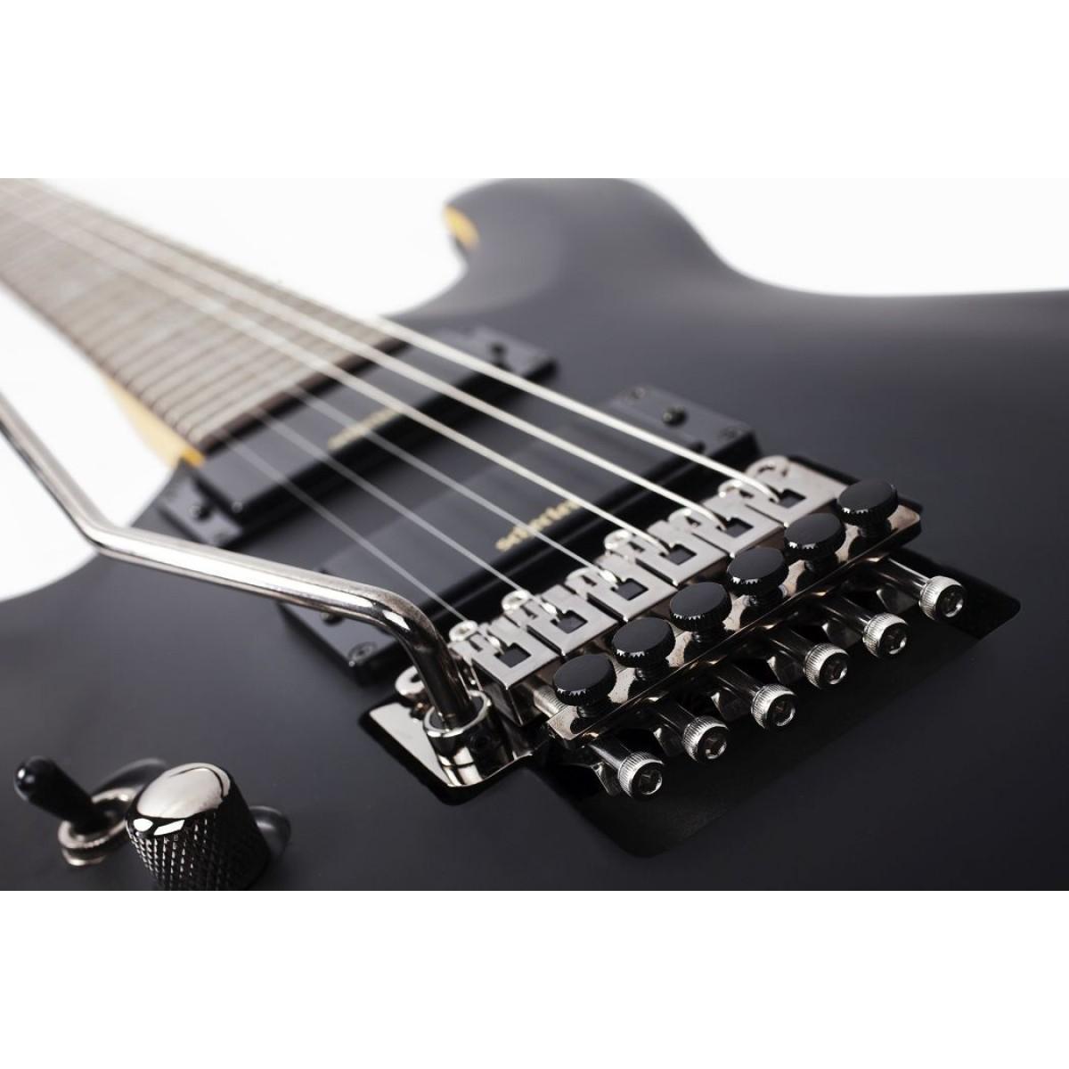 schecter sch3666 demon 6 fr left handed absn electric guitar. Black Bedroom Furniture Sets. Home Design Ideas