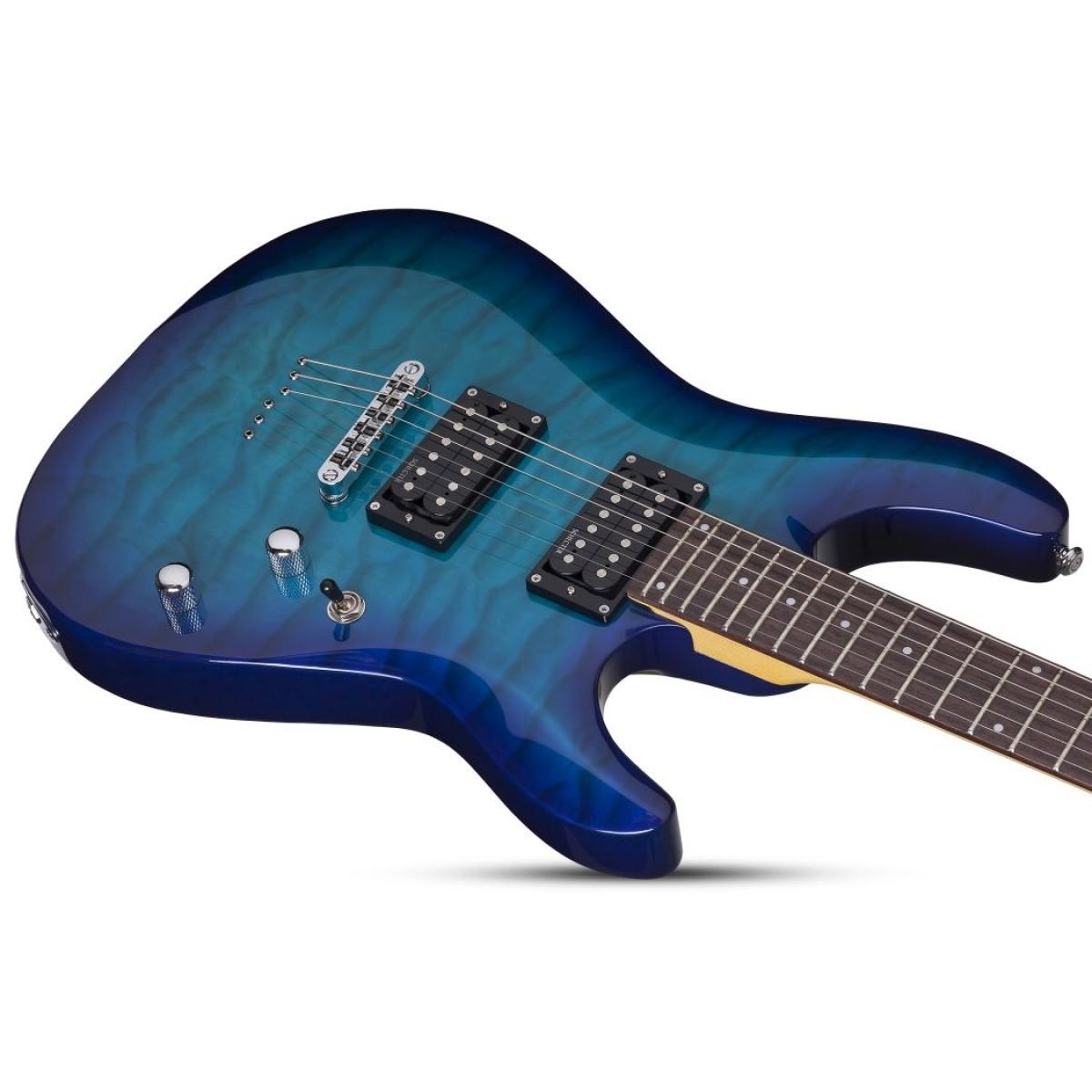 schecter sch443 c 6 plus ocean blue burst electric guitar. Black Bedroom Furniture Sets. Home Design Ideas