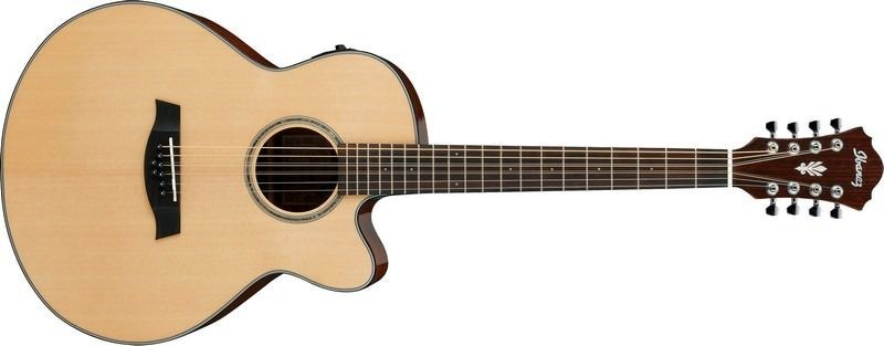 Ibanez AEL108MD-NT 8 String Acoustic Guitar - Natural High Gloss