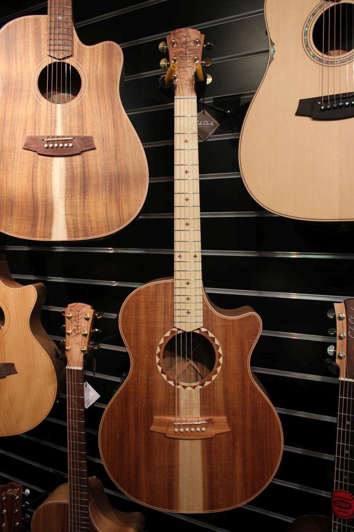 Cole Clark CCAN2EC-BLBLSB Grand Auditorium Angel 2 Series Electric Acoustic Guitar