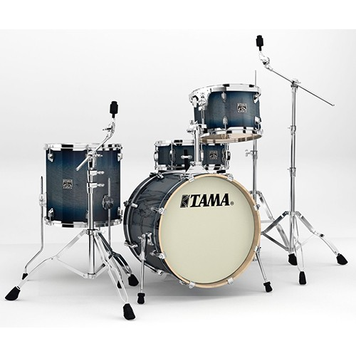 "TAMA Superstar Classic 4 Piece 18"" Drum Kit Set with Hardware - Dark Indigo Burst Finish"
