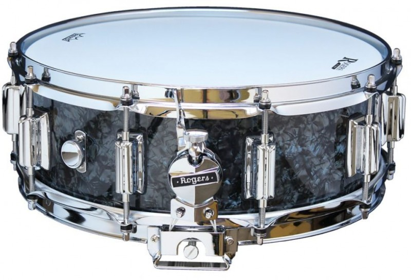 Rogers Dyna-Sonic Beavertail Snare Drum Model No. 36-BP Black Diamond Pearl