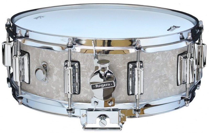 Rogers Beavertail Snare Drum Model No. 36-WMP White Marine Pearl