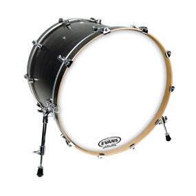 "Evans BD16RSW-NP EQ3 Resonant Smooth White Bass Drum Head Skin No Port 16"""