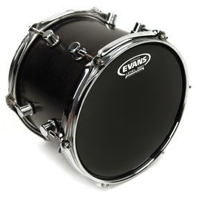"Evans TT12HBG Hydraulic Black Drum Head Skin 12"""