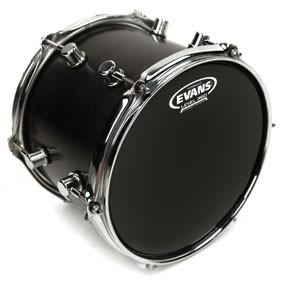 "Evans TT08HBG Hydraulic Black Drum Head Skin 8"""