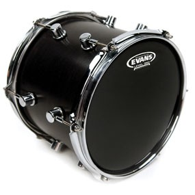 "Evans TT12RBG Resonant Black Drum Head Skin 12"""