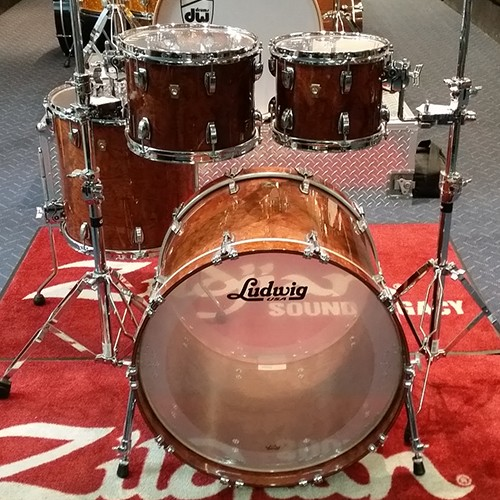 Ludwig Classic Maple Mod22 4 Piece Drum Kit Shell Set Gloss Bubinga - L8424AXZ4