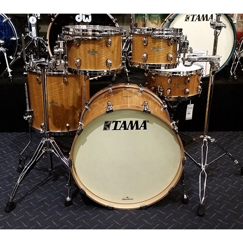 TAMA Starclassic Maple 5 Piece Drum Kit Shell Set - Gloss Natural Movingui Finish