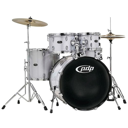 PDP by DW Centerstage 5 Piece Drum Kit with Hardware and Cymbals - Diamond Sparkle Finish