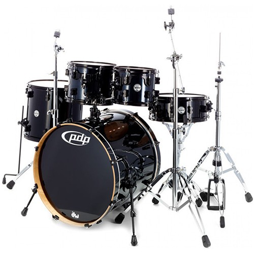 PDP By DW Concept Series 5 Piece CM5 Maple Drum Kit with Hardware - Pearlescent Black