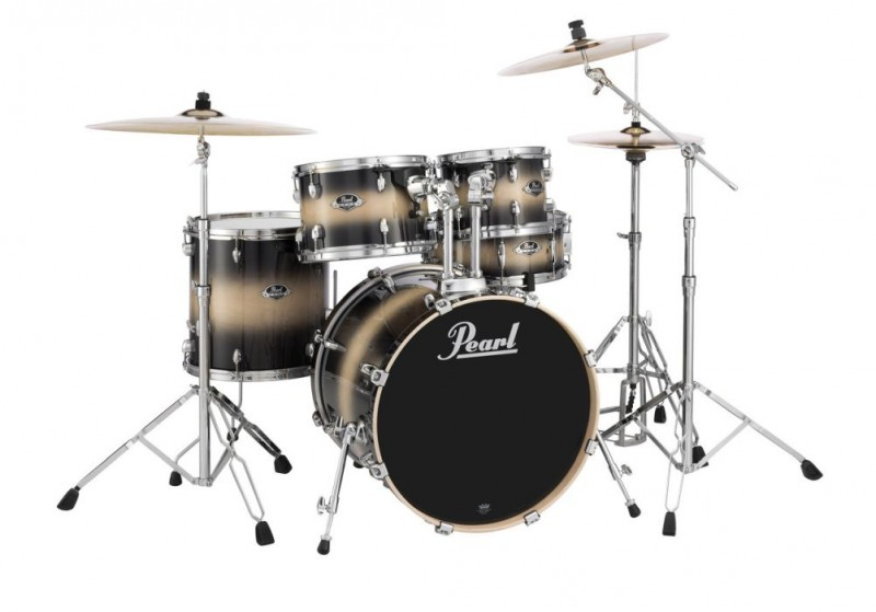 """Pearl Export EXL 22"""" Fusion Plus Drum Kit W/Hardware Nightshade Lacquer"""