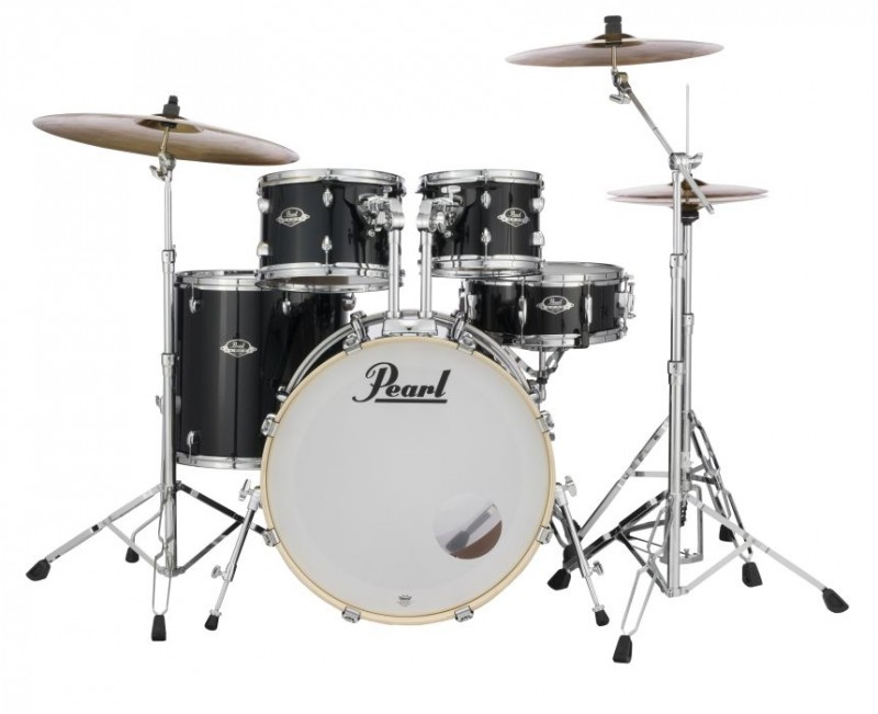"Pearl Export EXX 22"" Fusion Plus Drum Kit W/Hardware Jet Black"