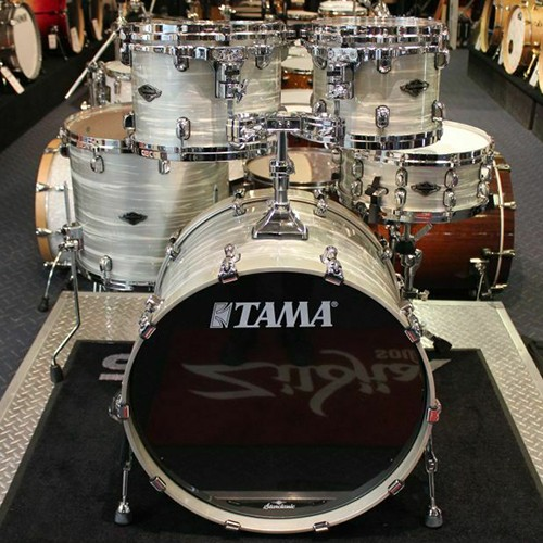 Tama Starclassic Performer 5 Piece Drum Kit Kapur/Maple Shell Set Lacquered Silver Oyster - Only 1 Available Worldwide