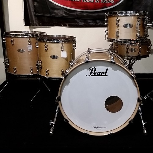 PEARL REFERENCE PURE 5 PIECE DRUM SHELL SET - PLATINUM MIST FINISH