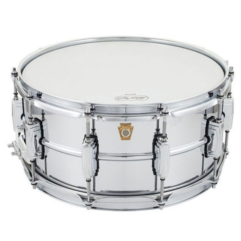 """LUDWIG – CHROMED BRASS 14""""X6.5"""" SNARE DRUM"""