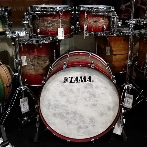 Tama Star Walnut 4 Piece Drum Kit Shell Set - Garnet Japanese Sen Burst Finish