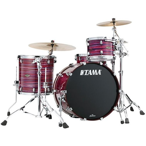 Tama Starclassic Walnut/Birch 3 Piece Drum Kit Shell Set in Lacquer Phantasm Oyster Finish