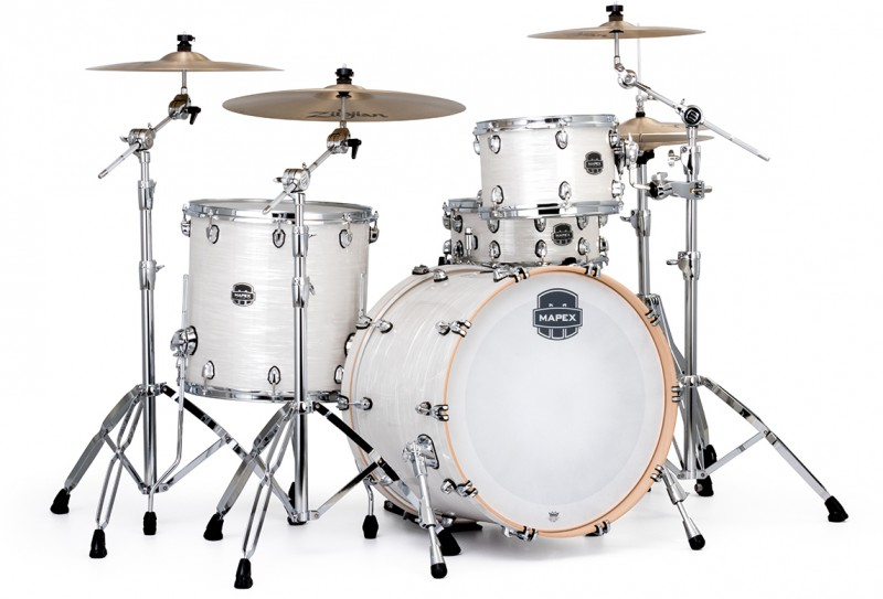 MAPEX – SATURN V TOUR EDITION 3-PIECE DRUM KIT WITH HARDWARE – WHITE MARINE