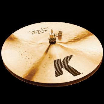 """Zildjian K0943 K Custom 14"""" Dark HiHat Pair Cymbal"""