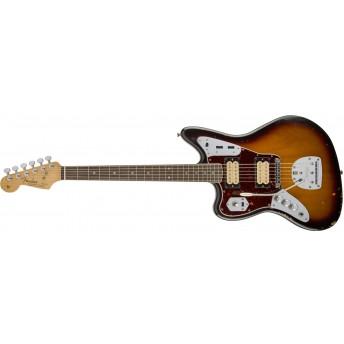 Fender Kurt Cobain Road Worn (Discontinued) Jaguar Left-Handed, Rosewood Fingerboard, 3-Color Sunburst