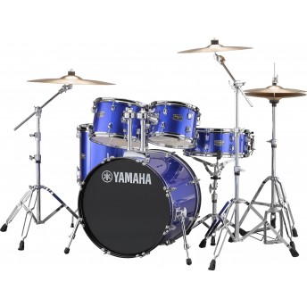 YAMAHA – RYDEEN 5 PIECE FUSION DRUM KIT WITH HARDWARE & CYMBALS – FINE BLUE