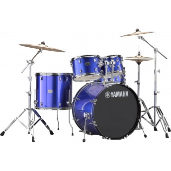 YAMAHA – RYDEEN 5 PIECE DRUM KIT IN EURO SIZES WITH HARDWARE & CYMBALS – FINE BLUE