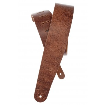 PLANET WAVES – 25VN01-DX – BLASTED LEATHER GUITAR STRAP – BROWN