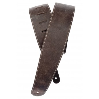 PLANET WAVES – 25VNS01-DX – STONEWASHED LEATHER GUITAR STRAP WITH CONTRAST STITCH – BROWN