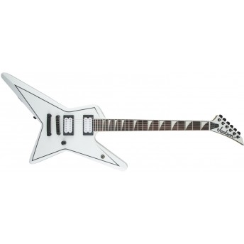 Jackson X Series Signature Gus G. Star, Rosewood Fingerboard, Satin White with Black Pinstripes