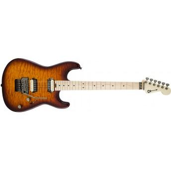 Charvel - Pro-Mod San Dimas Style 1 Guitar, HH FR M QM - Tobacco Burst