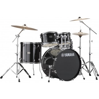 YAMAHA – RYDEEN 5 PIECE DRUM KIT IN EURO SIZES WITH HARDWARE & CYMBALS – BLACK GLITTER