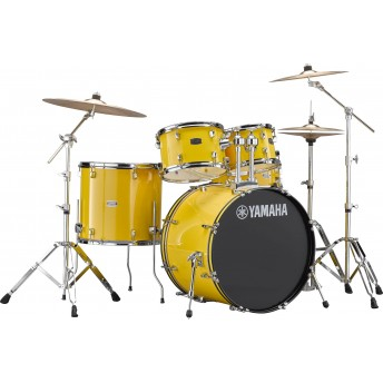 YAMAHA – RYDEEN 5 PIECE DRUM KIT IN EURO SIZES WITH HARDWARE & CYMBALS – MELLOW YELLOW