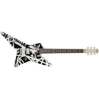 EVH - Striped Series Star Guitar - Black and White