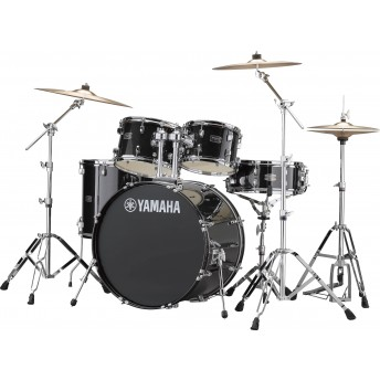 YAMAHA – RYDEEN 5 PIECE FUSION DRUM KIT WITH HARDWARE & CYMBALS – BLACK GLITTER