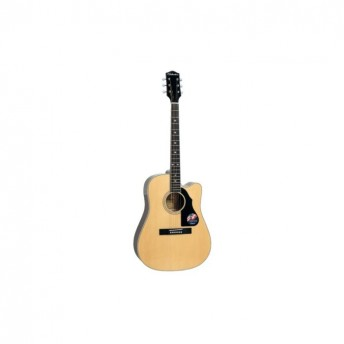 Silvertone Solid Top Dreadnought Natural Finish Acoustic Guitar