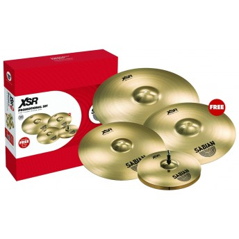 SABIAN – XSR 5005GB PERFORMANCE CYMBALS SET W/ FREE 18""