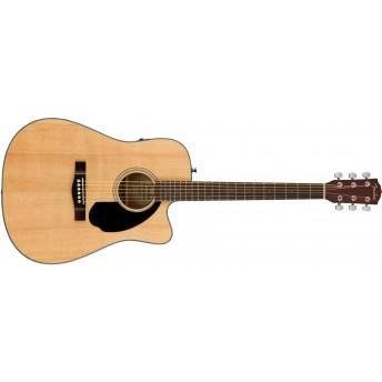 Fender CD-60SCE Acoustic Guitar, Natural