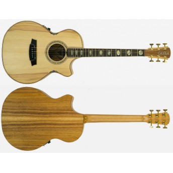 COLE CLARK – ANGEL 3 BUNYA/BLACKWOOD CUTAWAY GRAND AUDITORIUM GUITAR