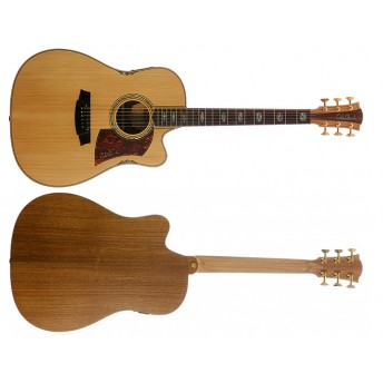 COLE CLARK – FAT LADY 3 – BUNYA/BLACKWOOD CUTAWAY DREADNOUGHT GUITAR