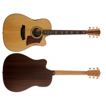 COLE CLARK – FAT LADY 3 – BUNYA/ROSEWOOD CUTAWAY DREADNOUGHT GUITAR