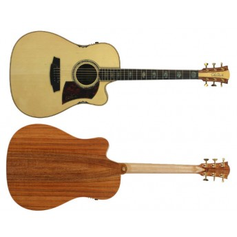 COLE CLARK – FAT LADY 3 – HUON PINE/BLACKWOOD CUTAWAY DREADNOUGHT GUITAR